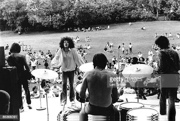The rock group MC5 perform live at West Park in 1968 in Ann Arbor Michigan