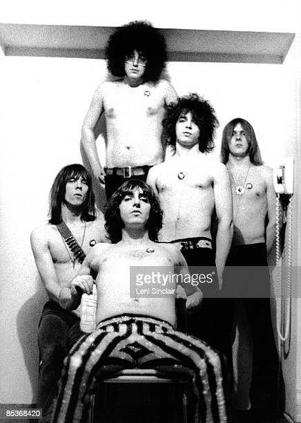 The rock group MC5 pose for a photo in 1969 in Ann Arbor Michigan They are all wearing White Panther Party pins