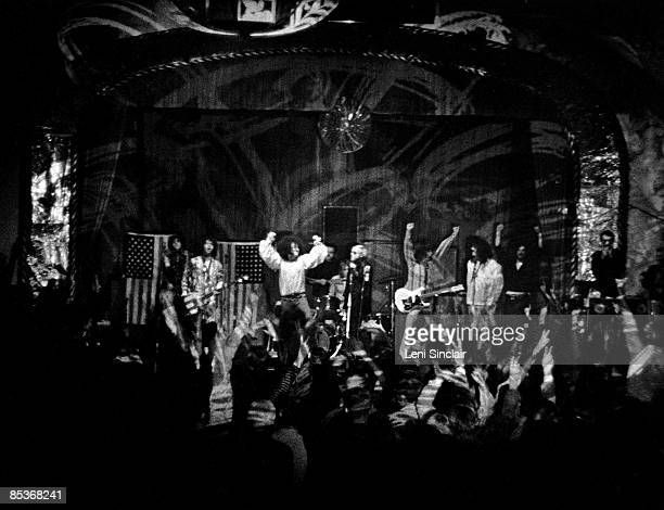 The rock group MC5 recording 'Kick Out The Jams' live at the Grande Ballroom on October 30/31 1968 in Detroit Michigan