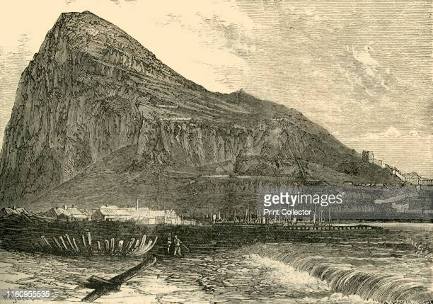 'The Rock of Gibraltar' 1890 A monolithic limestone promontory located in on the Starits of Gibraltar with a system of underground passages known as...
