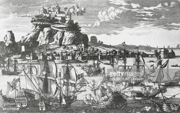 The Rock of Gibraltar, engraving, 18th century.