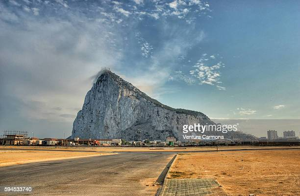 the rock of gibraltar - rock of gibraltar stock photos and pictures