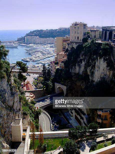 The rock of Monaco French riviera