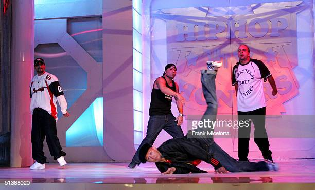 The Rock Steady Crew performs onstage at the VH1 Hip Hop Honors at the Hammerstein Ballroom October 3 2004 in New York City