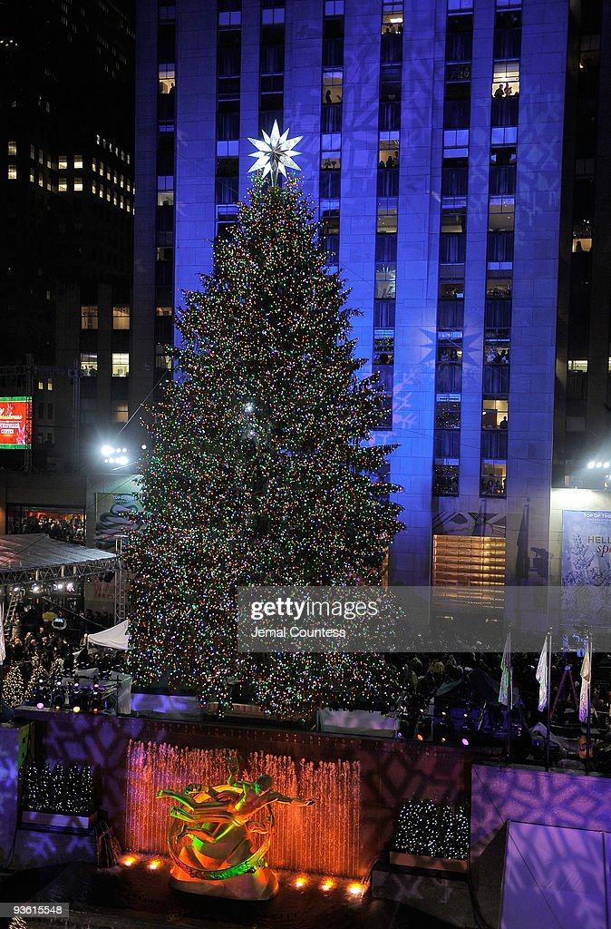 The Rockefeller Center Christmas Tree after the lighting ceremony at the Rockefeller Center Christmas tree lighting & Rockefeller Center Christmas Tree Lighting Photos and Images ... azcodes.com