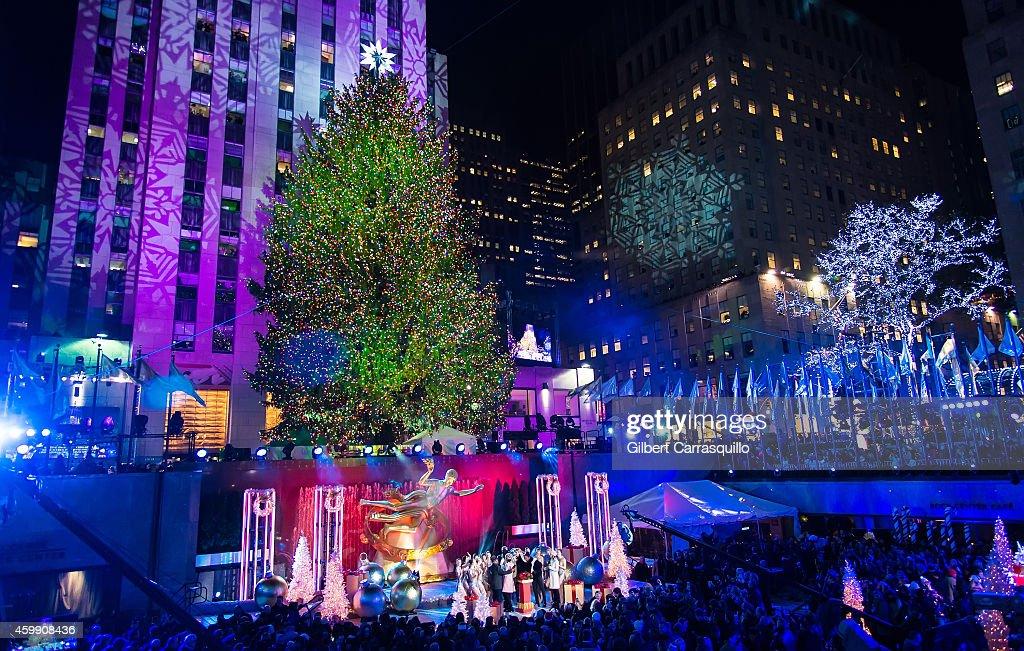 The Rockefeller Center Christmas tree is lit during the 82nd Annual Rockefeller Christmas Tree Lighting Ceremony & 82nd Annual Rockefeller Christmas Tree Lighting Ceremony Photos ... azcodes.com