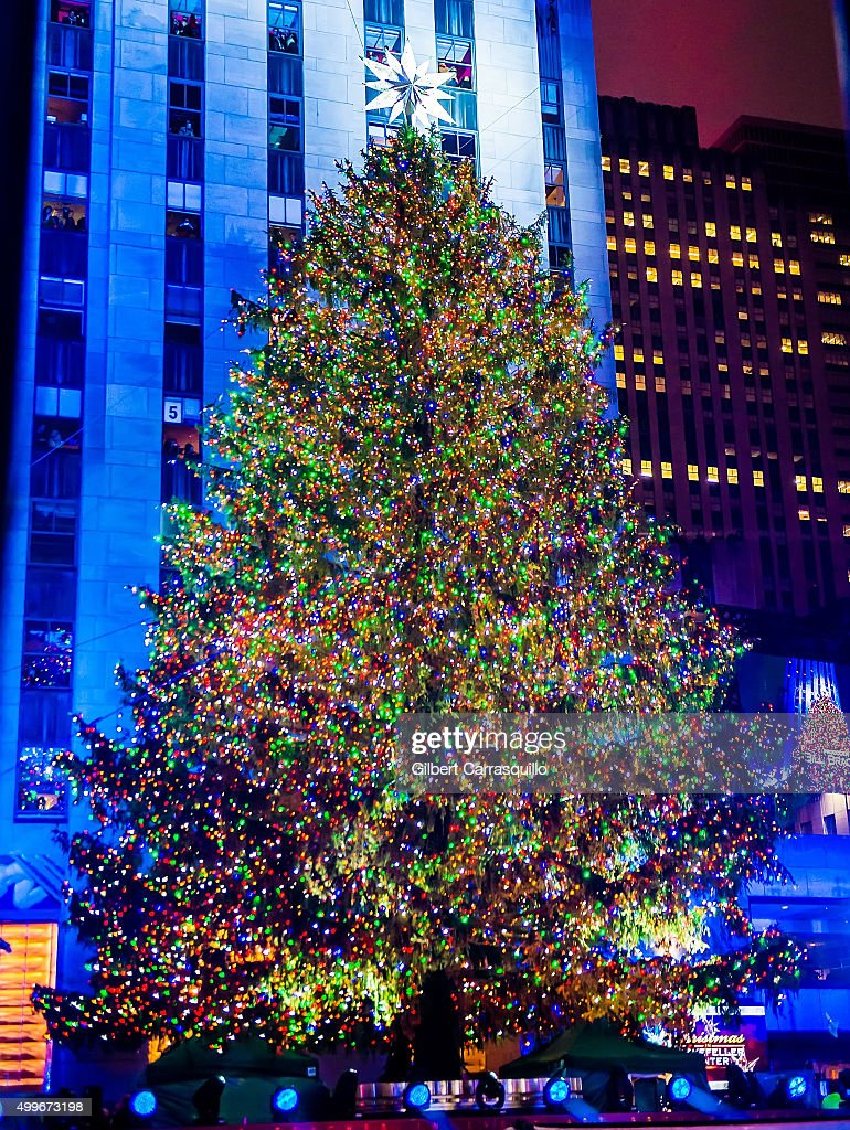 The Rockefeller Center Christmas tree is lit during the 83rd Annual Rockefeller Christmas Tree Lighting Ceremony  sc 1 st  Getty Images & 83rd Rockefeller Center Tree Lighting 2015 Photos and Images ... azcodes.com