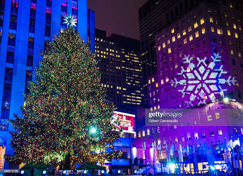 The Rockefeller Center Christmas tree is lit during the ...