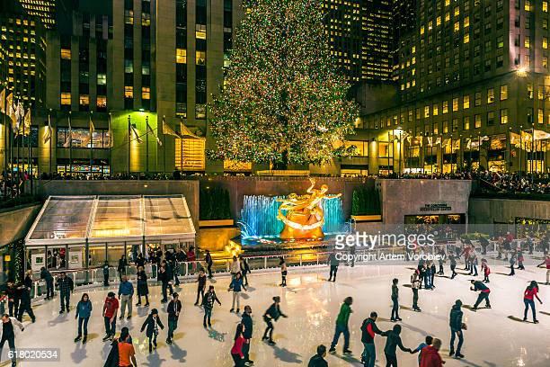 The Rockefeller Center skate rink