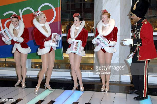 The Rockettes attend the launch of Madame Alexander's Candy Cane Rockette doll at FAO Schwarz on November 13 2008 in New York City