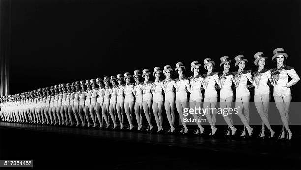 The Rockettes chorus at Radio City Music Hall