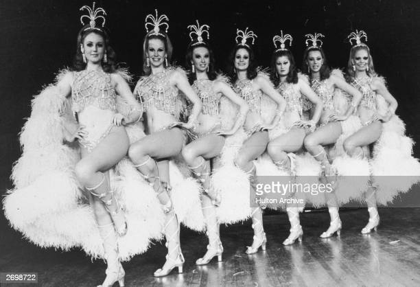 The Rockettes dancing on stage