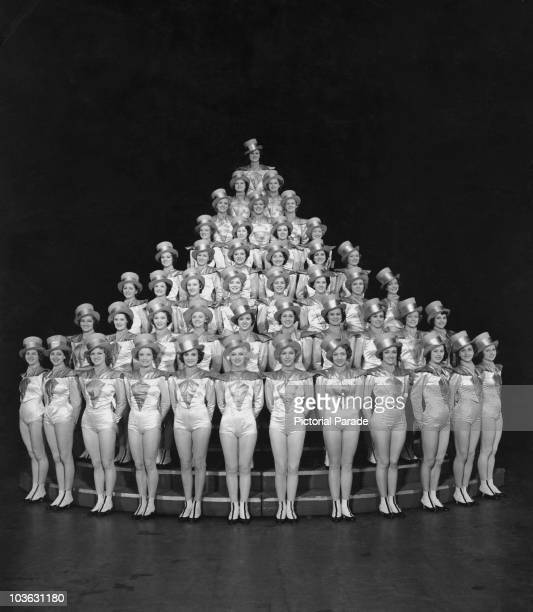 The Rockettes of Radio City Music Hall pictured at the Rockefeller Center in New York City New York USA circa 1940 The Rockettes are a wellknown...