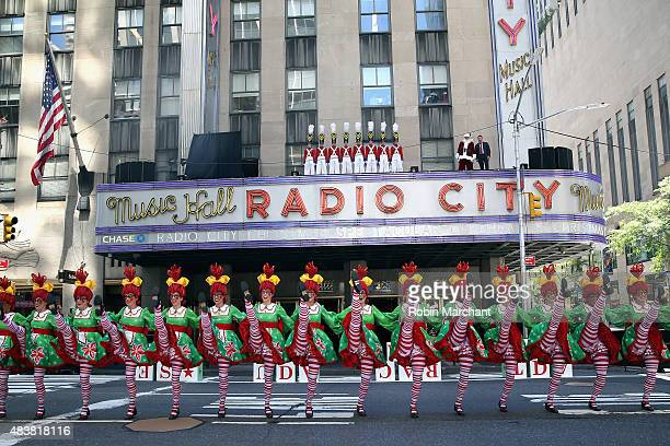 The Rockettes perform at the 2015 Radio City Christmas Spectacular Christmas In August at Radio City Music Hall on August 13, 2015 in New York City.