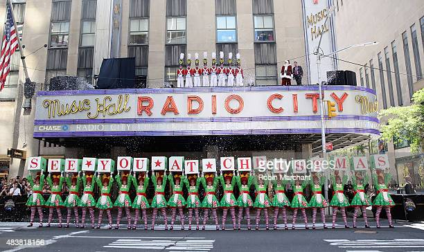 The Rockettes perform at the 2015 Radio City Christmas Spectacular Christmas In August at Radio City Music Hall on August 13 2015 in New York City