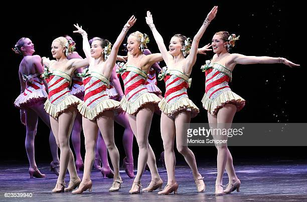 The Rockettes perform on stage during the Christmas Spectacular Starring The Radio City Rockettes Opening Night at Radio City Music Hall on November...