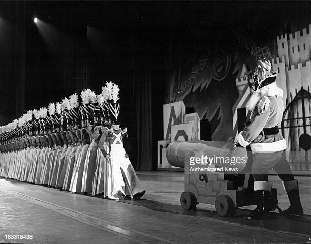 The Rockettes perform 'The Parade Of The Wooden Soldiers' Radio City Music Hall in New York City 1955