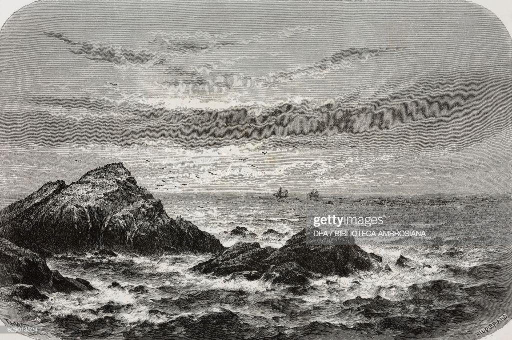 The Rocks Called Seal In Pacific Ocean Near Santa Clara California