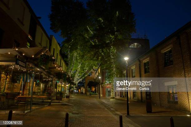 The Rocks district normally full of tourists is empty on March 26, 2020 in Sydney, Australia. Further restrictions on travel and movement have been...