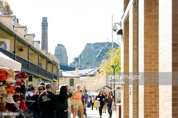The Rocks market in Sydney Australia, copy space