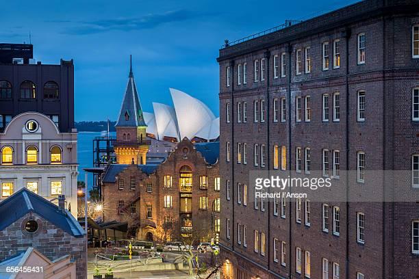 The Rocks & Sydney Opera House at dusk