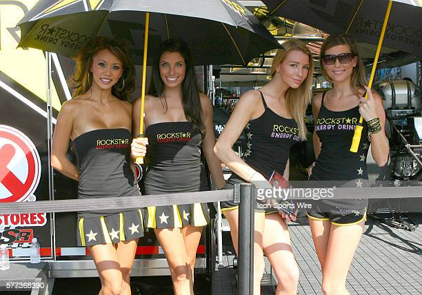 The RockStar Energy Drink girls during the NHRA Carolina Nationals event at the zMAX Dragway in Concord NC