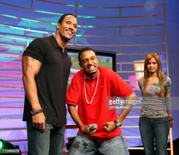 The RockTerrence and Rocsi of 106 and Park during Dwayne The Rock Johnson Jim Jones and Katt Williams Visit BET's 106 Park September 14 2006 at BET...