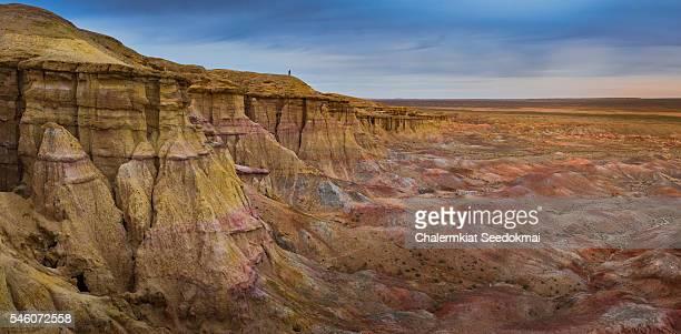 The rocky formations of Tsagaan Suvarga
