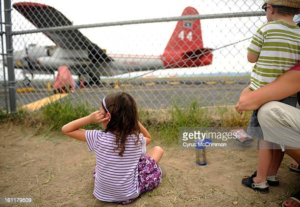 The Rocky Mountain Metropolitan Airport in Broomfield was buzzing at the Jeffco Airtanker Base for the refilling of retardant on the fire fighting...