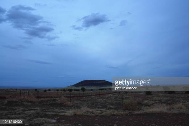 The Roden Crater a volcanic cone from an extinct volcano is pictured near Flagstaff in Arizona USA 21 April 2013 Photo Christina Horsten   usage...