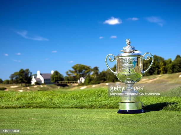 The Rodman Wanamaker Trophy at Whistling Straits Golf Course in Sheboygan WI USA the future site of the 97th PGA Championship on September 14 2014