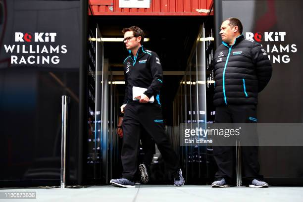 The Rokit Williams Racing team work in the Paddock during day three of F1 Winter Testing at Circuit de Catalunya on February 20 2019 in Montmelo Spain