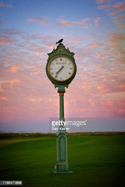 The Rolex clock at the Ocean Course at Kiawah Island Golf Resort, the future site of the 103rd PGA Championship, on November 16 in Kiawah Island,...