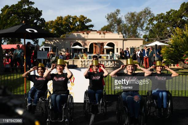 The Rollettes dance team perform onstage at GOLD MEETS GOLDEN 2020 presented by CocaCola BMW Beverly Hills And FASHWIRE and hosted by Nicole Kidman...
