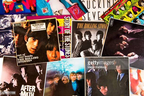 the rolling stones album covers - pop music stock pictures, royalty-free photos & images