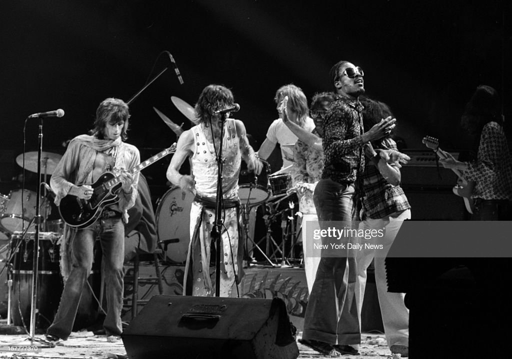 The Rolling Stones American Tour 1972 Mick Jagger and Stevie