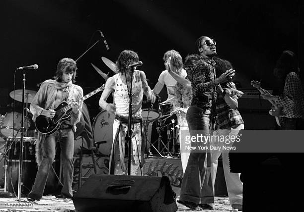 The Rolling Stones American Tour 1972 Mick Jagger and Stevie Wonder are nearly creamed by cream pie