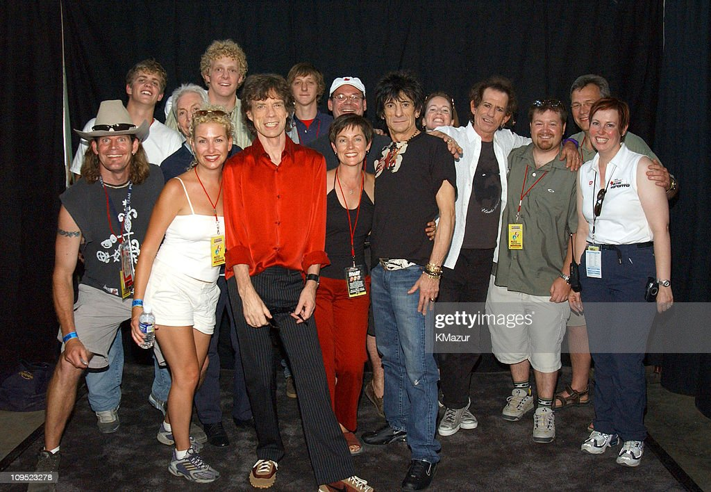 The Rolling Stones and crew during Molson Canadian Rocks for Toronto - Backstage at Downsview Park in Toronto, Ontario, Canada.