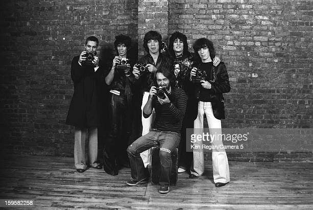The Rolling Stones and photographer Ken Regan are photographed at the Camera 5 studios in 1977 in New York City CREDIT MUST READ Ken Regan/Camera 5...