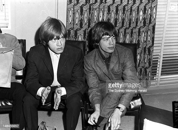The Rolling Stones are interviewed by the Australian press shortly after arriving at Mascot Airport January 21 1965