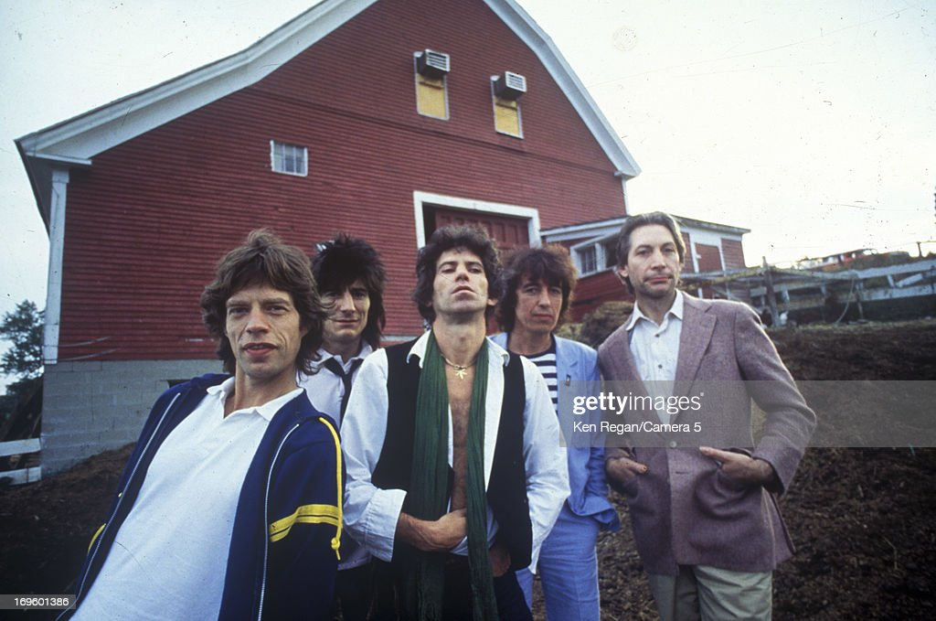 The Rolling Stones are photographed at Longview Farm in September 1981 in Worcester, Massachusetts.