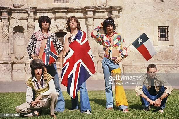 The Rolling Stones are photographed at the Alamo in June 1975 in San Antonio Texas CREDIT MUST READ Ken Regan/Camera 5 via Contour by Getty Images