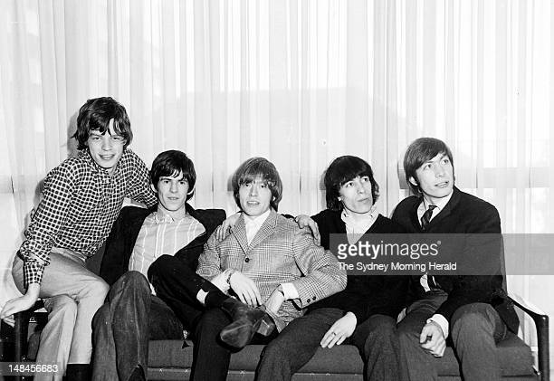 The Rolling Stones are photographed during a press conference at the Chevron Hotel in Sydney January 21 1965