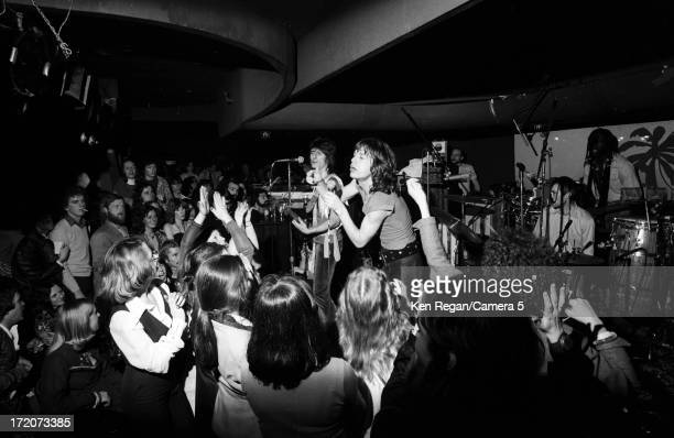 The Rolling Stones are photographed on stage at El Mocambo Tavern in March 1977 in Toronto Ontario CREDIT MUST READ Ken Regan/Camera 5 via Contour by...