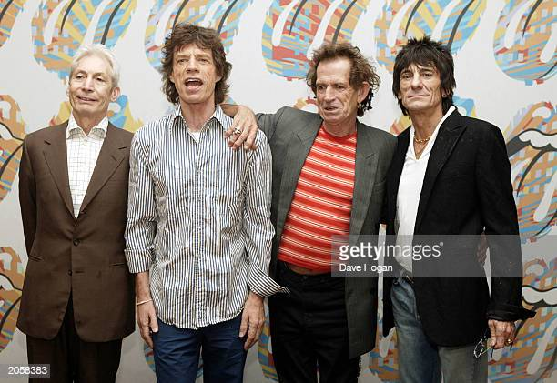 The Rolling Stones attend a press conference and photocall to mark the beginning of their European tour Forty Licks on June 5 2003 in Munich Germany