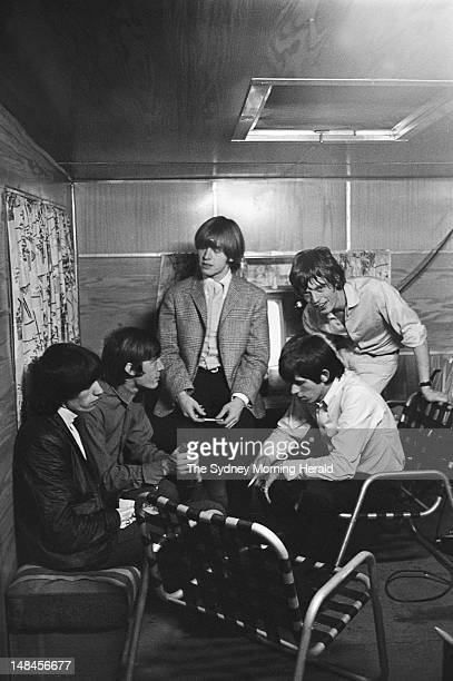 The Rolling Stones before performing at Sydney Showground January 22 1965