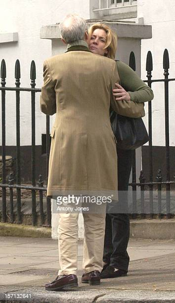 The Rolling Stones' Charlie Watts Has Lunch With His Daughter Seraphina Granddaughter Charlotte In London'S Fulham Road Before Returning To A House...