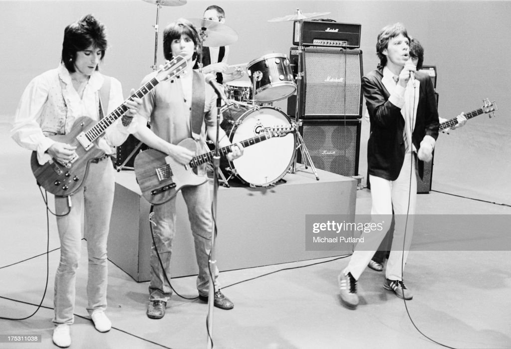 - The Rolling Stones during rehearsal, New York, 1978. L - R; Ronnie Wood, Keith Richards, Charlie Watts, Mick Jagger, and hidden behind Mick, Bill Wyman.