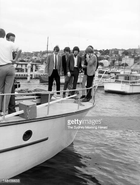 The Rolling Stones enjoy a cruise on Sydney Harbour during their Australian tour January 23 1965