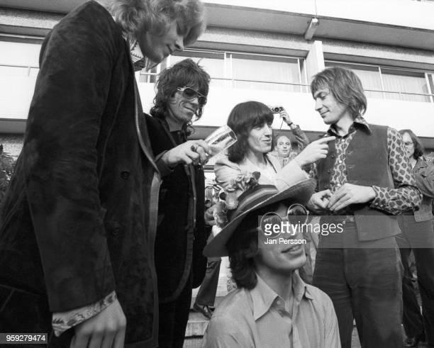 The Rolling Stones group portrait in Copenhagen Denmark September 1970 LR Mick Taylor Keith Richards Bill Wyman Mick Jagger Charlie Watts